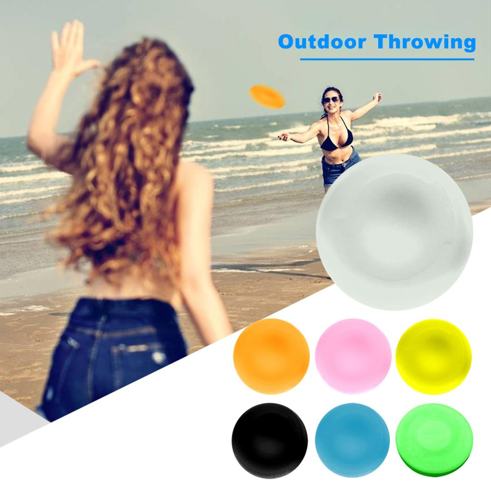 Silicone Flying Discs Mini Outdoors Flexible Catching Toy Fluorescent Outside Beach Water Sports Tool For Kids Adults Drop Ship