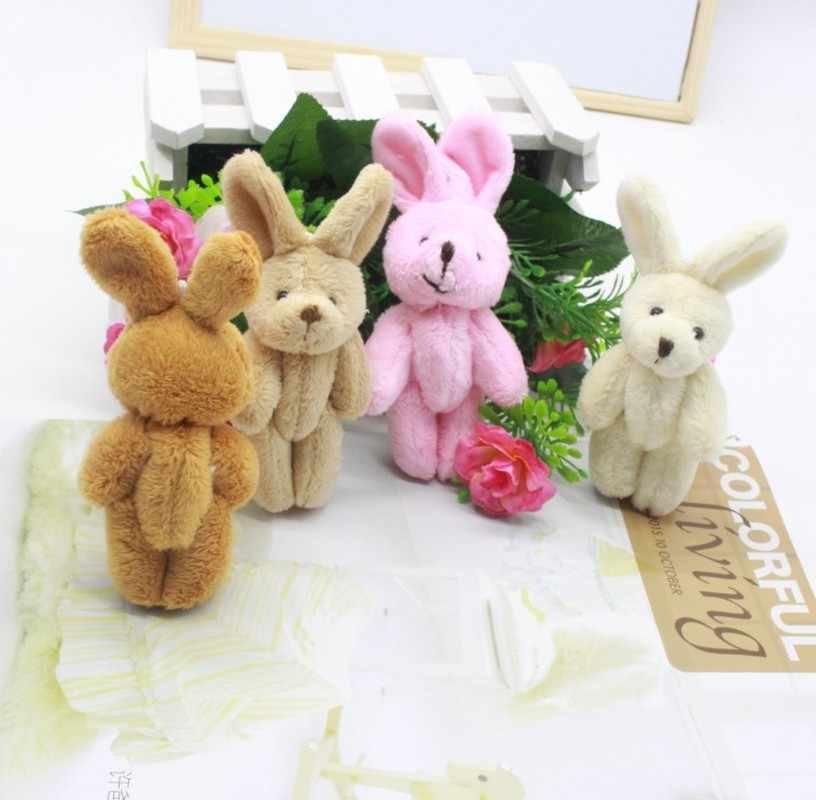 1PC Plush Toy Doll Mini 8CM Plush Joint Rabbit Toys Small Cute Pendant DIY Soft Stuffed Bunny Toy Kids Activity Party Gifts