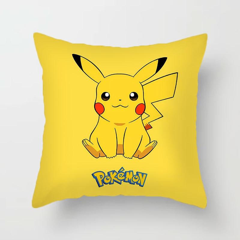 Pokemon Pikachu Cushion Cover Pikachu Go Anime Plush Toys Psyduck Pillow Case Cartoon Pillow Case Sofa Car Home Pillow Cover