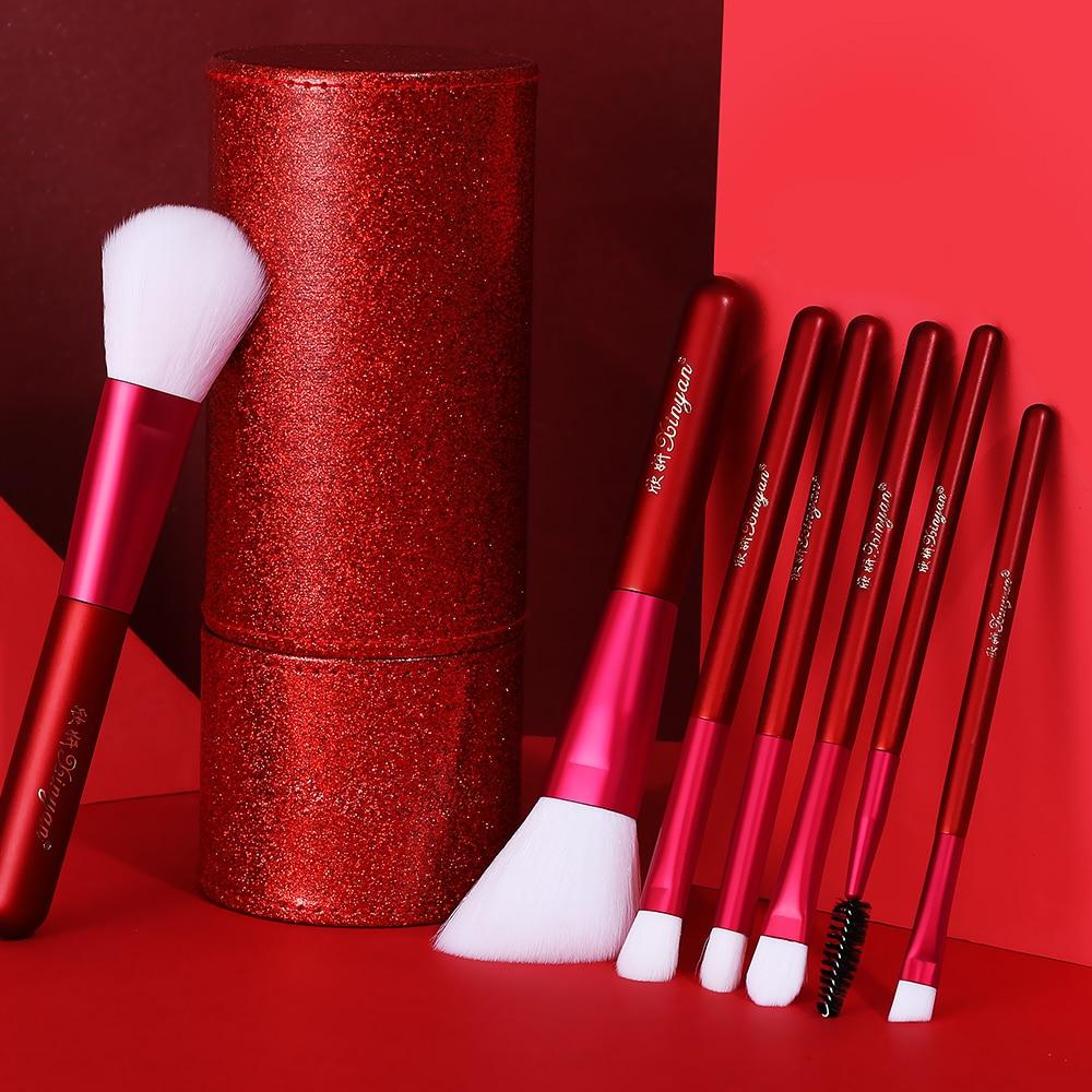 XINYAN Candy Makeup Brush Set Pink Blush Eyeshadow 6