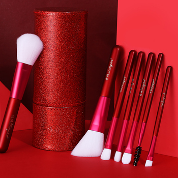 XINYAN Candy Makeup Brush Set Pink Blush Eyeshadow Concealer Lip Cosmetics Make up For Beginner Powder Foundation Beauty Tools 6