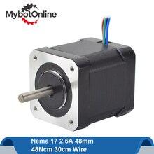 Nema17 шаговый двигатель 48 мм 42 двигатель 42BYGH 48Ncm Nema 17 шаговый двигатель 2.5A 4-lead для 3D-принтера с ЧПУ