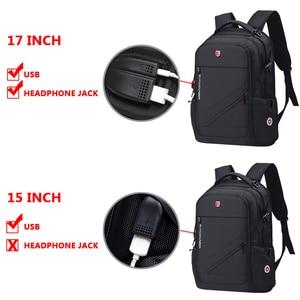 Image 3 - Anti Theft Oxford Business Backpack Men External Charging USB Function Laptop Backpack Swiss Waterproof Travel bag 17 inch women