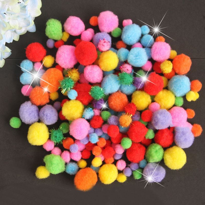 DIY Craft Supplies Soft Plush Ball Fluffy Pom Poms For Kids Crafts Toy For Children Fantanstic Handmade Arts 2019 Wholesale