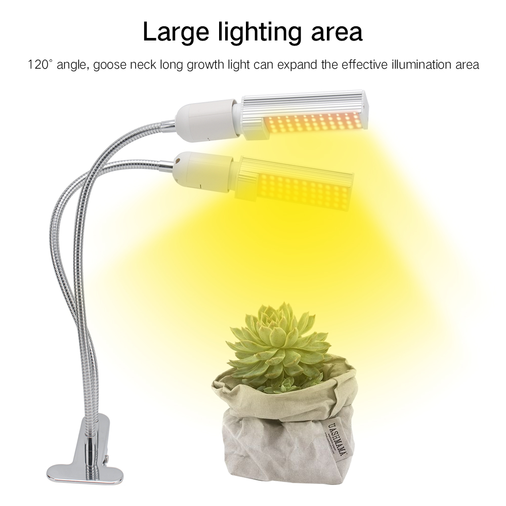 H9981b7cf11b447239378eae68da7b7e2t - LED Grow Light Full Spectrum 380~800NM 45W 88 LED Dimmable Growing Lamp with Timer Indoor Tent Greenhouse Plant Flower Phytolamp | RadiantHomeLighting