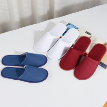 1 Pair Hotel Beauty Salon Home Disposable Slippers Pull Cloth Solid Color Spring Autumn Women Mens Flat 2019