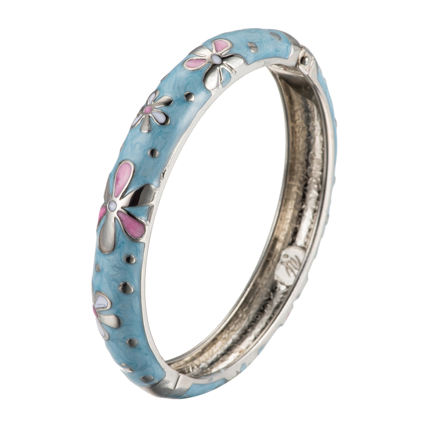 UJOY Bracelet Cloisonne Jewelry Colorful Fashion Opening Hinged Bangles Crafted Enamel Gifts for Girl Women 55A62
