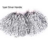 1Pair  Silver Handle