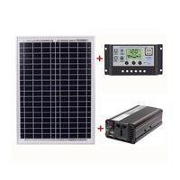 Vender https://ae01.alicdn.com/kf/H9981ea44a9c44b27b650ca185e9c967bB/Sistema de generación de energía Solar para exteriores en casa AC220V 1500W Panel Solar controlador Solar.jpg