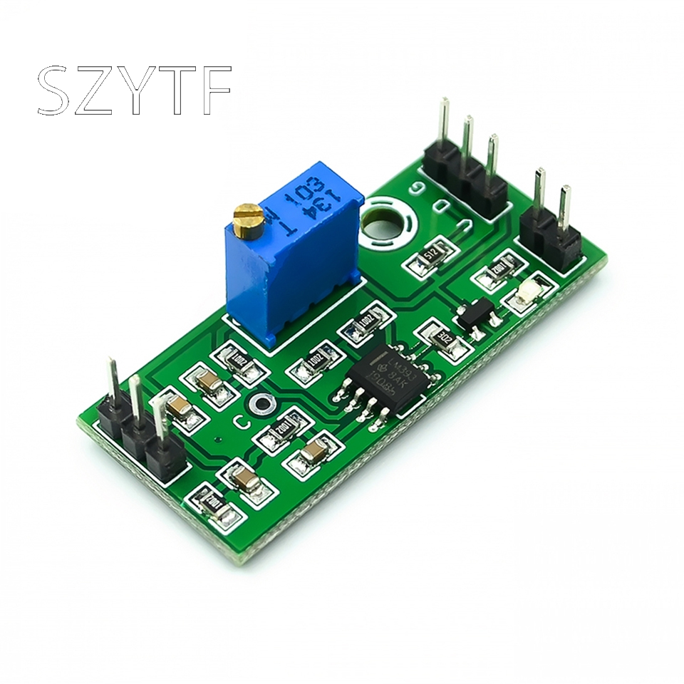 LM393 Voltage Comparator Module Adjustable High Precision Waveform Shaping Dual-output LED Indication