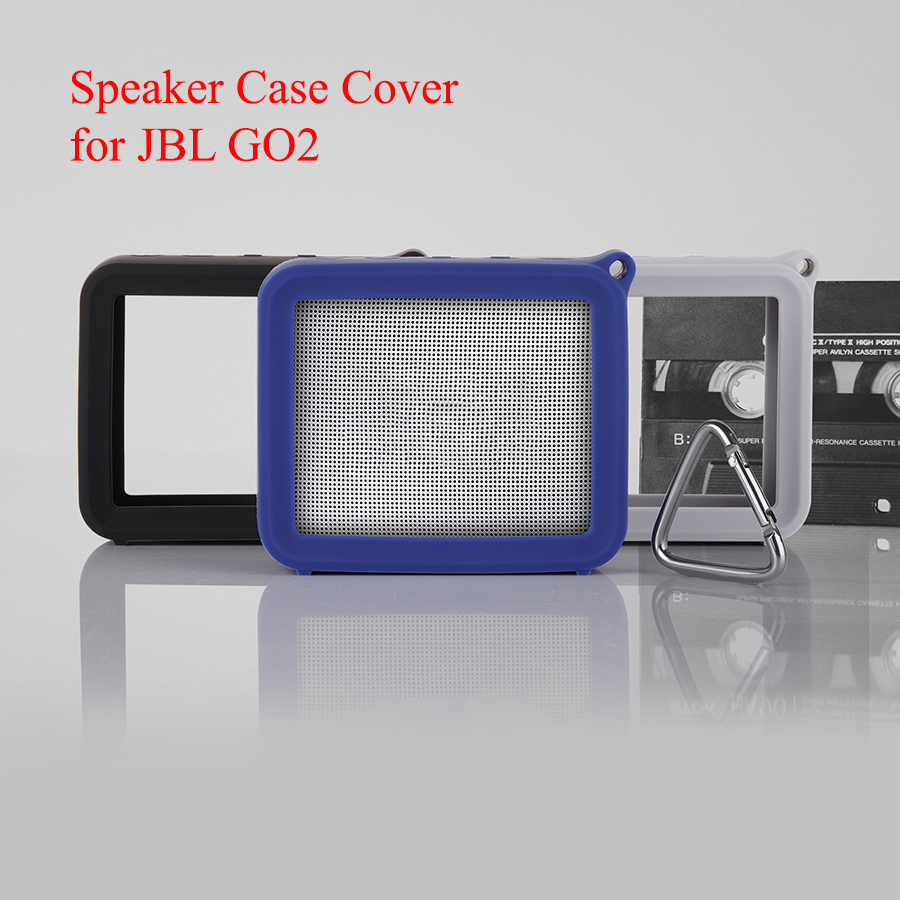 Protective Silicone Case Cover For JBL GO2 Anti-lost Case Cover With Carabiner Shockproof Outdoor Cover