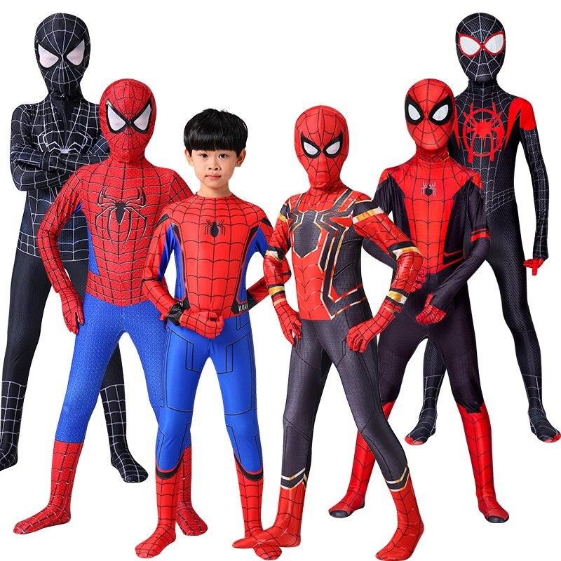 Aranha de ferro cosplay incrível spider boy homem traje de halloween peter parker zentai terno superhero bodysuit para crianças adulto c39a66| |   - AliExpress