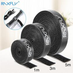1/3/5M Raxfly Ultra Thin Micro Soft Nylon Hook Buckled bandage Loop Fastener Magic Tape Clip Holder Cable Ties Strap #1229