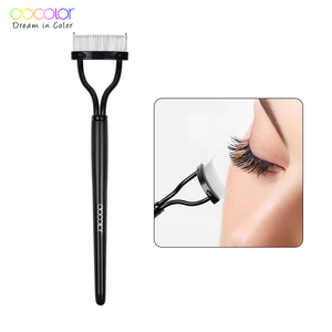 Docolor Make up Mascara Guide Applicator Eyelash Comb Eyebrow Brush Curler Beauty Essential Cosmetic Tool Eye Makeup Tools(China)