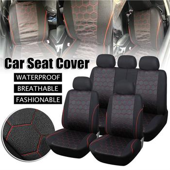 9PCS Waterproof Car Seat Cover Universal Fit Most Vehicles Seats Interior Accessories Seat Covers Cushion Car Seat Protector CSV 4pcs car seat covers universal most brand vehicle seats car seat protector interior accessories seat cover