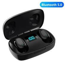 Bluetooth-гарнитура T10, Спортивная беспроводная гарнитура T10S, бинауральный цифровой дисплей, tws Bluetooth-наушники, беспроводные наушники-вкладыши