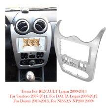 Fit Für RENAULT Logan SANDERO Dacia Duster Doppel 2 Din Auto Radio Fascia Rahmen Panel Mount Dash Installation Trim Kit