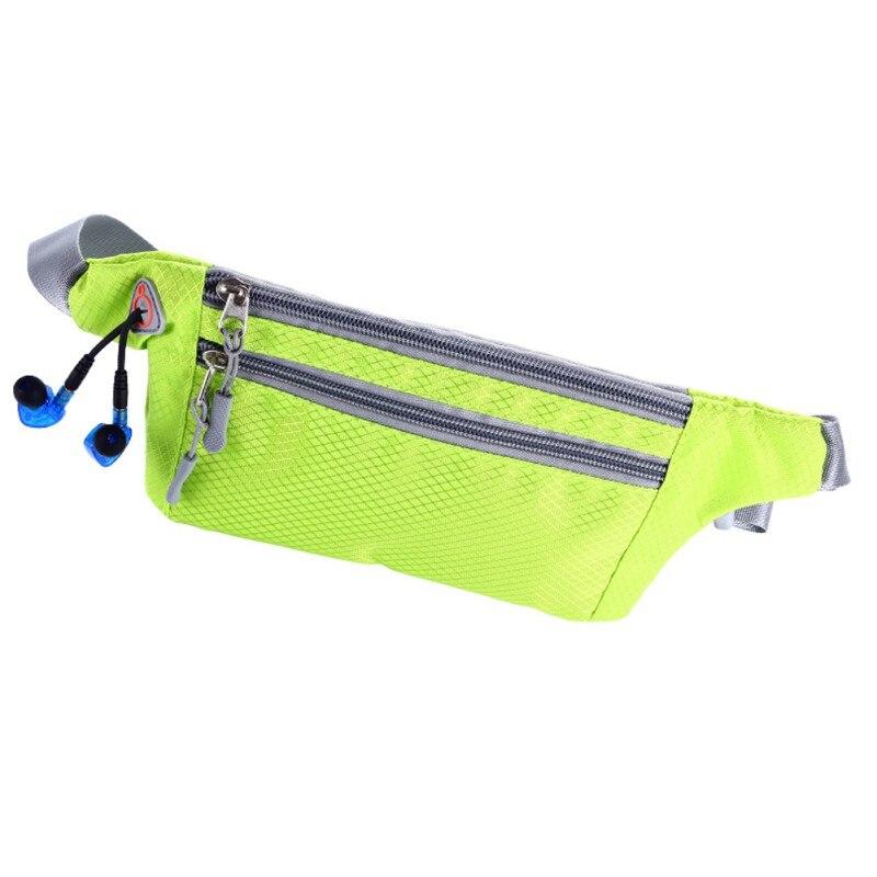 Водонепроницаемая функциональная поясная сумка для бега, спортивная сумка для музыки с отверстием для наушников, подходит для смартфонов