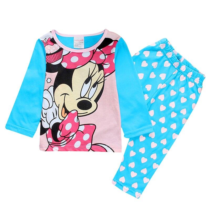 Autumn Winter Mickey Minnie Kids Girls Boys Clothes Baby Pajamas Long Sleeved Cartoon Children's Edward Sleepwear 4