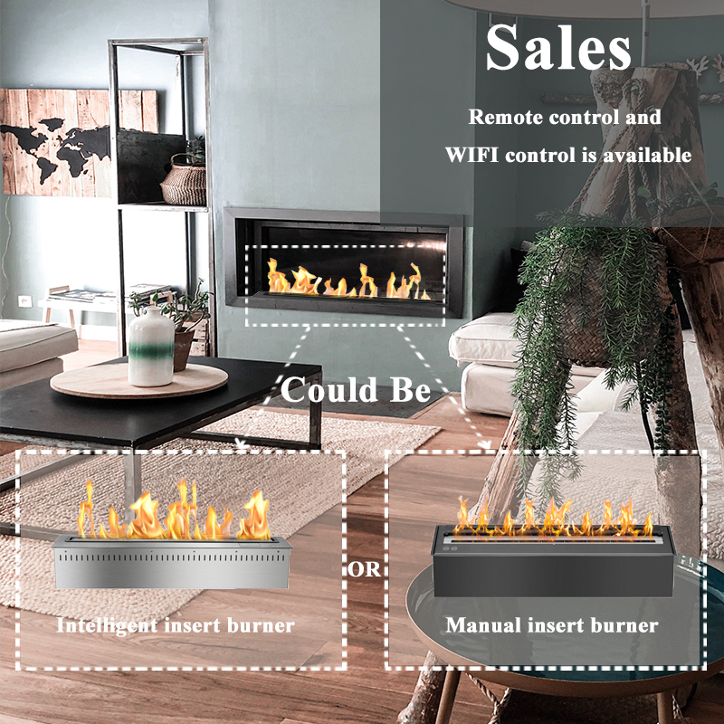 24 Inch Modern Smart Fireplace Remote Control