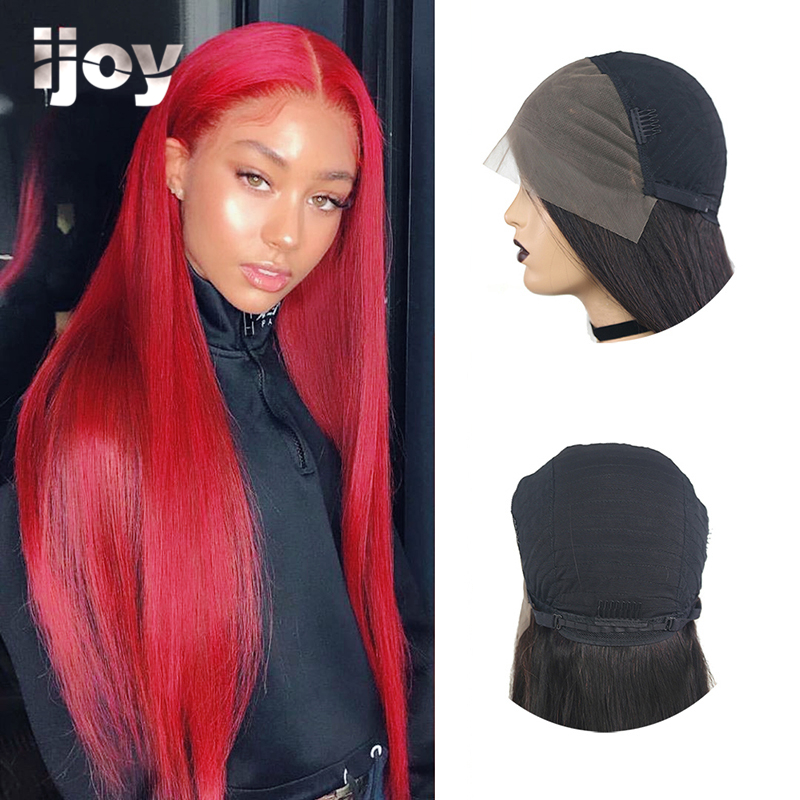 Straight Colored Wig 13x4 Lace Front Burgundy Red 10