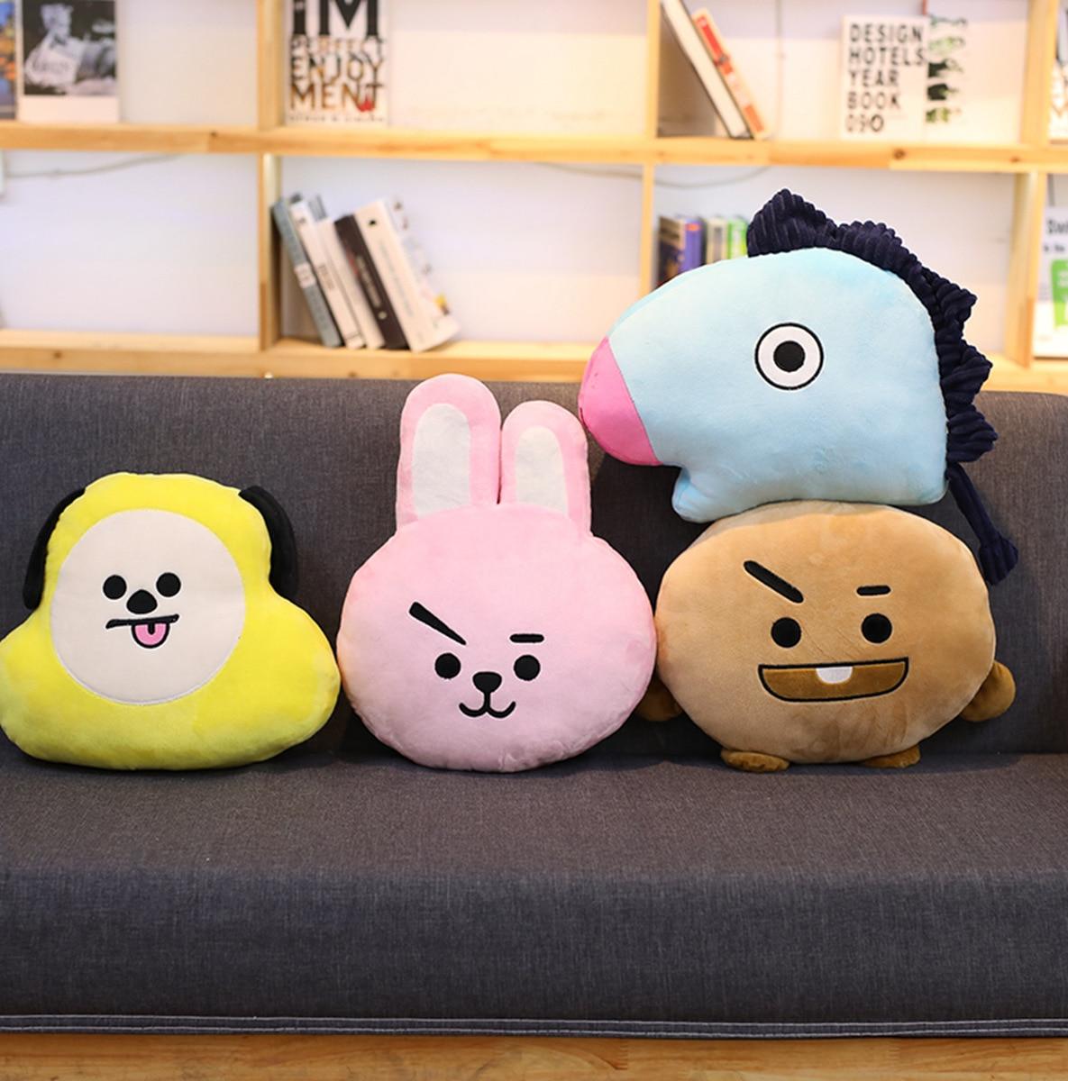 BTS Bulletproof Boys Pillow Doll Plush Doll tj heng Tata Pillow RJ shooky Pillow