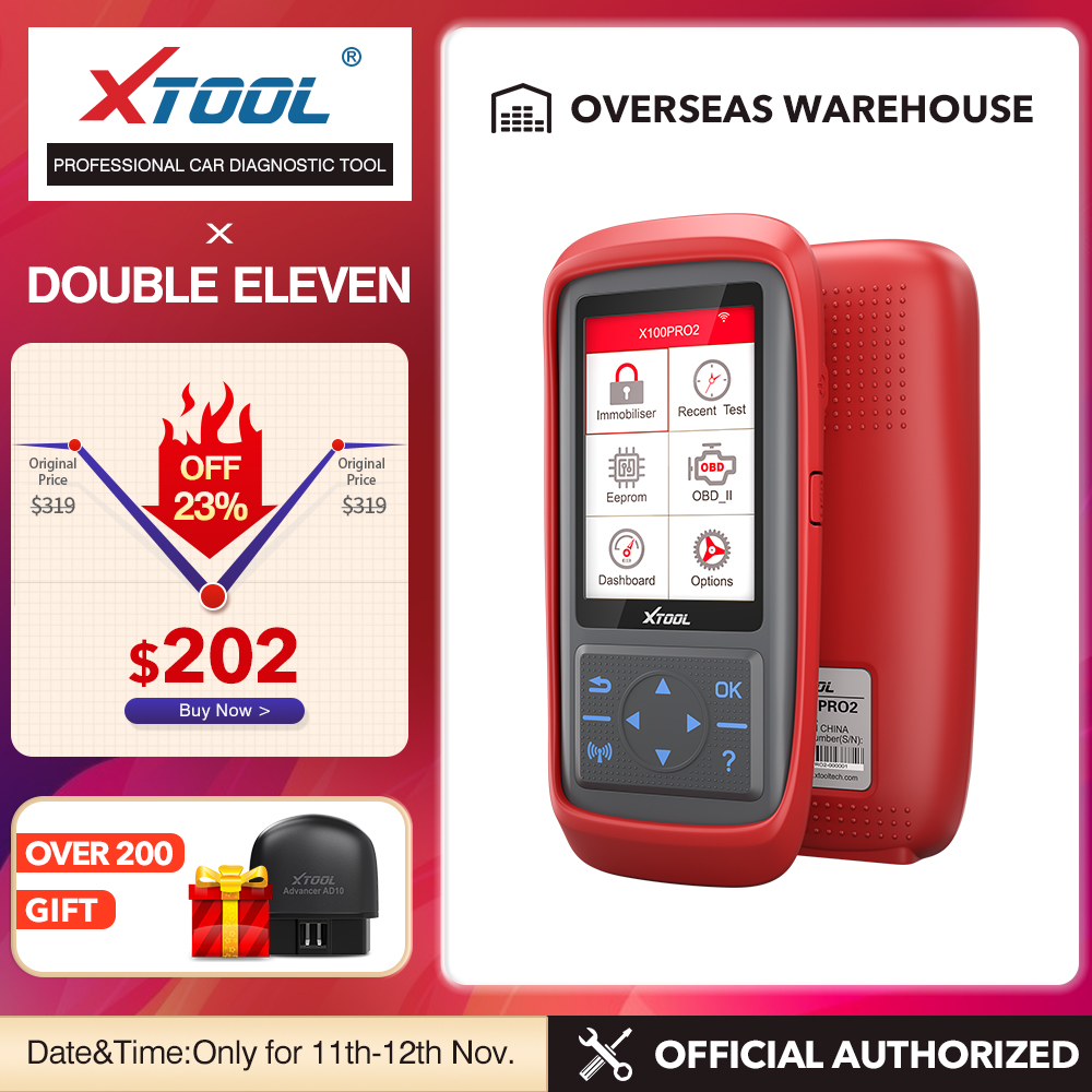 XTOOL X100 Pro2 OBD2 Auto Key Programmer Mileage Adjustment X100PRO ECU Reset Code Read Car Tools Multi-Language Free Update