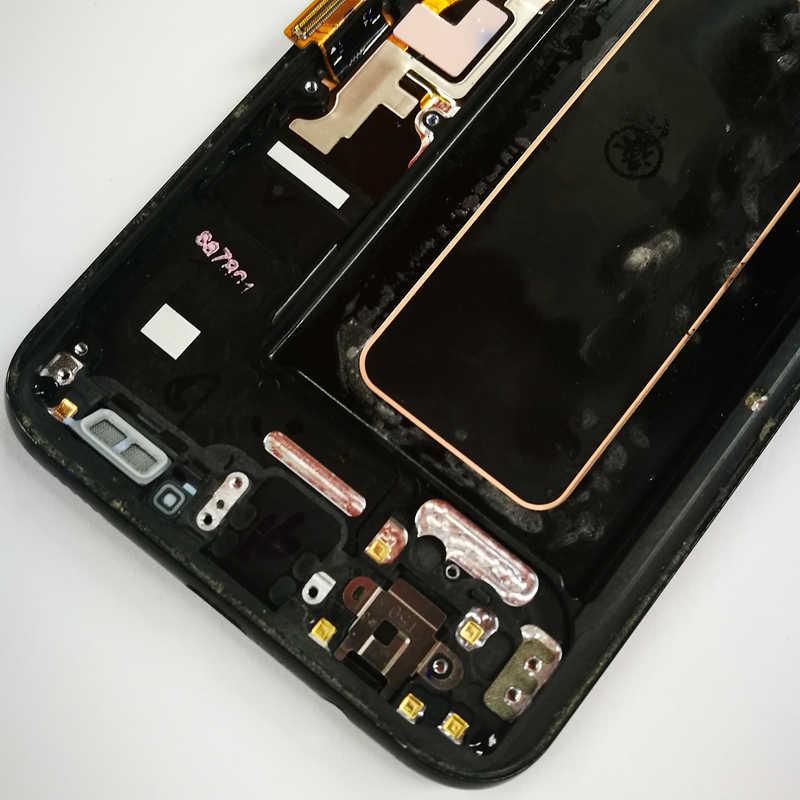الأصلي 5.8 ''S8 شاشة عرض لسامسونج غالاكسي S8 LCD قطع غيار للشاشة LCD مجموعة رقمنة اللمس G950F G950 مع burns