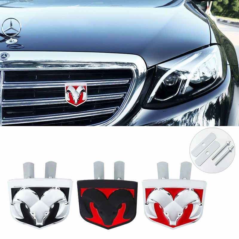 3D Auto Car Metal Hood Front Grilles Grill Badge Emblem Fit SRT6 SRT8 SRT6