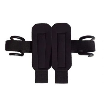 2pcs 2 in 1 Adjustable Wrist Support Fitness Gloves Thicken Sleeve Strap Gym Weight Lifting