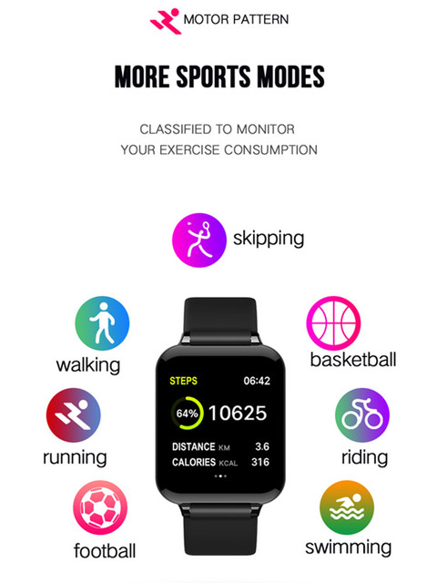 B57 smart watch men women smartwatch fitness Bracelet Tracker heart rate monitor multiple sport mode men women smart Band watch 5