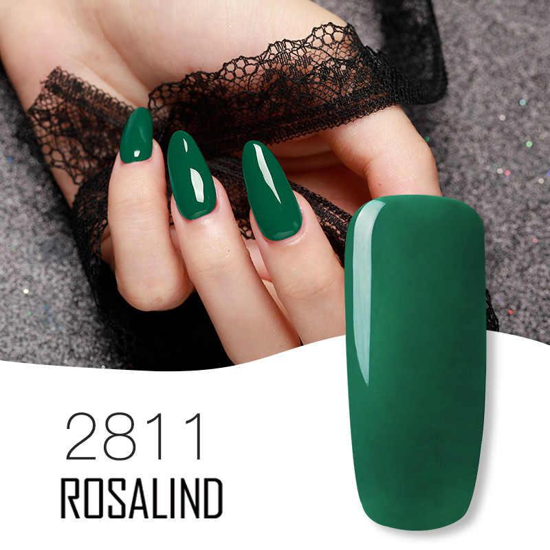 ROSALIND Gel esmalte de uñas Set para manicura barnices híbridos uñas Color Semi permanente esmalte de uñas de Gel uv Base superior 2019 nuevo