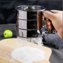 Stainless Steel Mesh Flour Sifter Mesh Flour Bolt Sifter Manual Sugar Icing Shaker Mechanical Baking Shaker Sieve Kitchen Tools