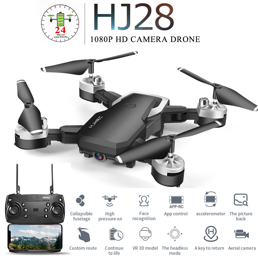 HJ28 Profissional Mini Foldable Drone With Camera 1080P Wide Angle WiFi FPV Altitude Hold RC Quadcopter Helicopter Toy X12S E58