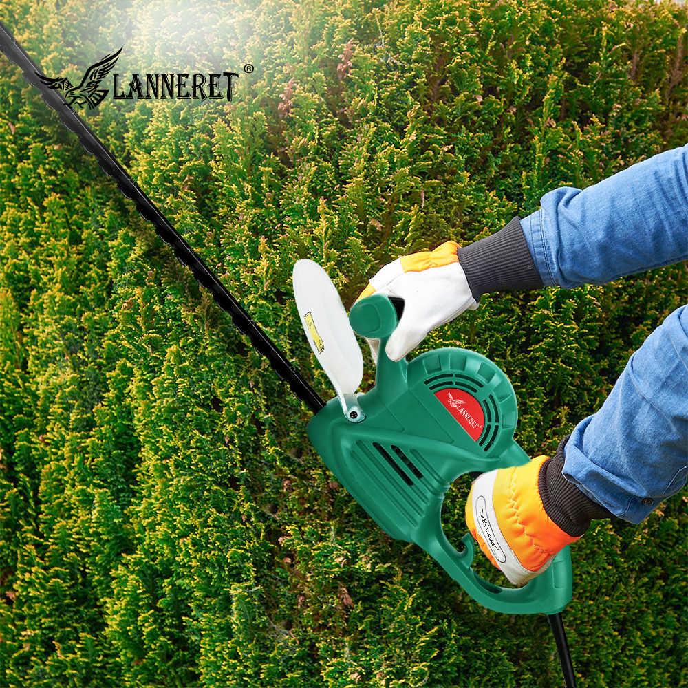 Lanneret-machine à couper l'herbe électrique, taille-haie, 500 W, avec interrupteur de sécurité à deux mains, outil de jardin