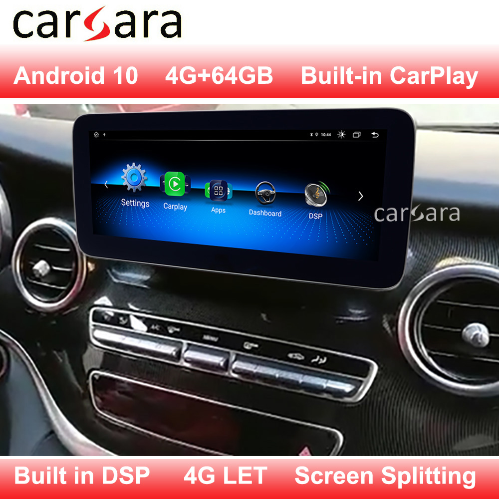 <font><b>Android</b></font> 10 big screen for Merce des V Class <font><b>W447</b></font> V200 Multimedia system update with CarPlay built in support 4g 2020 newest NAVI image