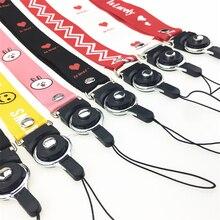 Anime Cute Cartoon Neck Strap Lanyard Fur Key ID Card Gym Mobile Phone Straps USB Badge Holder DIY Hang Rope