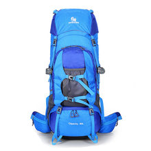 80L outdoor backpack mountaineering bag mountaineering backpack large outdoor backpack new backpack waterproof backpack / campin(China)