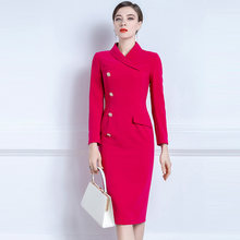 High End Formal Dress Celebrity Temperament Professional Suit Dress Women's New Slim Body In Autumn And Winter 2020
