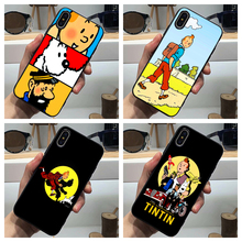 The Adventures of Tintin Phone Case Soft Cover Black for Iphone SE2020 11 Pro Max 6 7 8plus 5 X XS XR Xsmax and Samsung S Series the adventures of tintin the shooting star