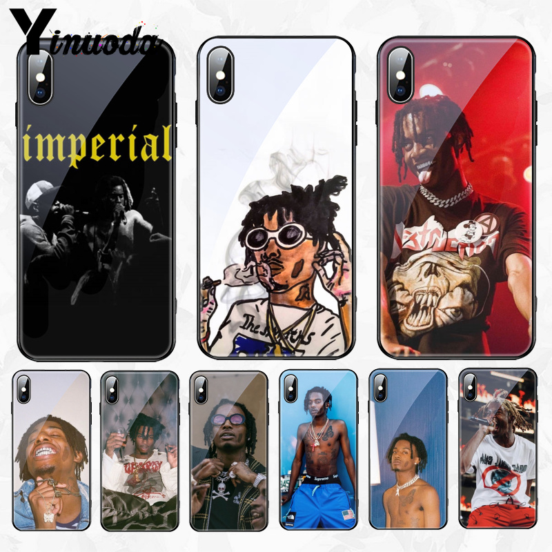 For Iphone 11 Denzel Curry Playboi Carti Glass Soft Silicone Phone Cover For Apple Iphone 8 7 6 6s Plus X Xs Max Xr Cover Phone Case Covers Aliexpress