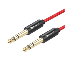цены на 6.5mm Jack Audio Cable Nylon Braided 6.35 Jack Male to Male Stereo Audio Cable for Guitar Mixer Amplifier Bass 6.35mm Aux Cable  в интернет-магазинах