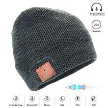 Новая беспроводная шапка bluetooth 50 beanie со съемными наушниками