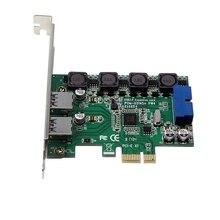 Высоко-Скорость 2-Порты и разъёмы Usb 3,0 19-Pin к Pci-E карта расширения адаптер PCI Express конвертер карты для настольных ПК
