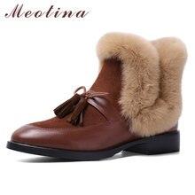 Meotina/ботильоны из натуральной кожи на среднем каблуке; Женская