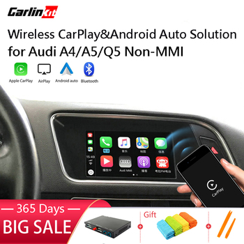 Carlinkit Decoder 2.0 CarPlay/Android Auto for AUDI A4 A5 Q5 NON-MMI Multimedia iPhone Android Wired Wireless Carlife Mirror Kit