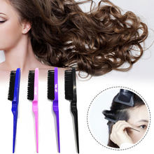 2019 Professional Tangle Hair Salon Extension Line Multicolor Back Smooth Brush New Teasing Wig Hair Styling Comb Random Color(China)