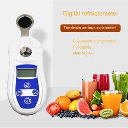 Ręczny miernik Brix cyfrowy refraktometr refraktometru Brix 0-53% Brix cukier w stężeniu wina wysoka precyzja Tester