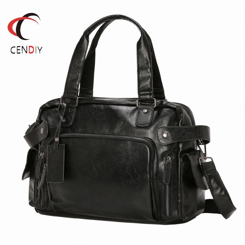 Brand Fashion Leather Men Briefcase Luxury Men Messenger Bag For Men Travel Bag Male Business Shoulder Bags