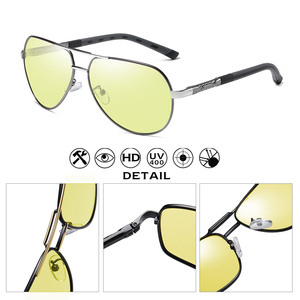 Image 4 - Aviação óculos de sol homem polarizado photochromic dia noite condução óculos de sol para piloto mulher uv400 gafas de sol hombre